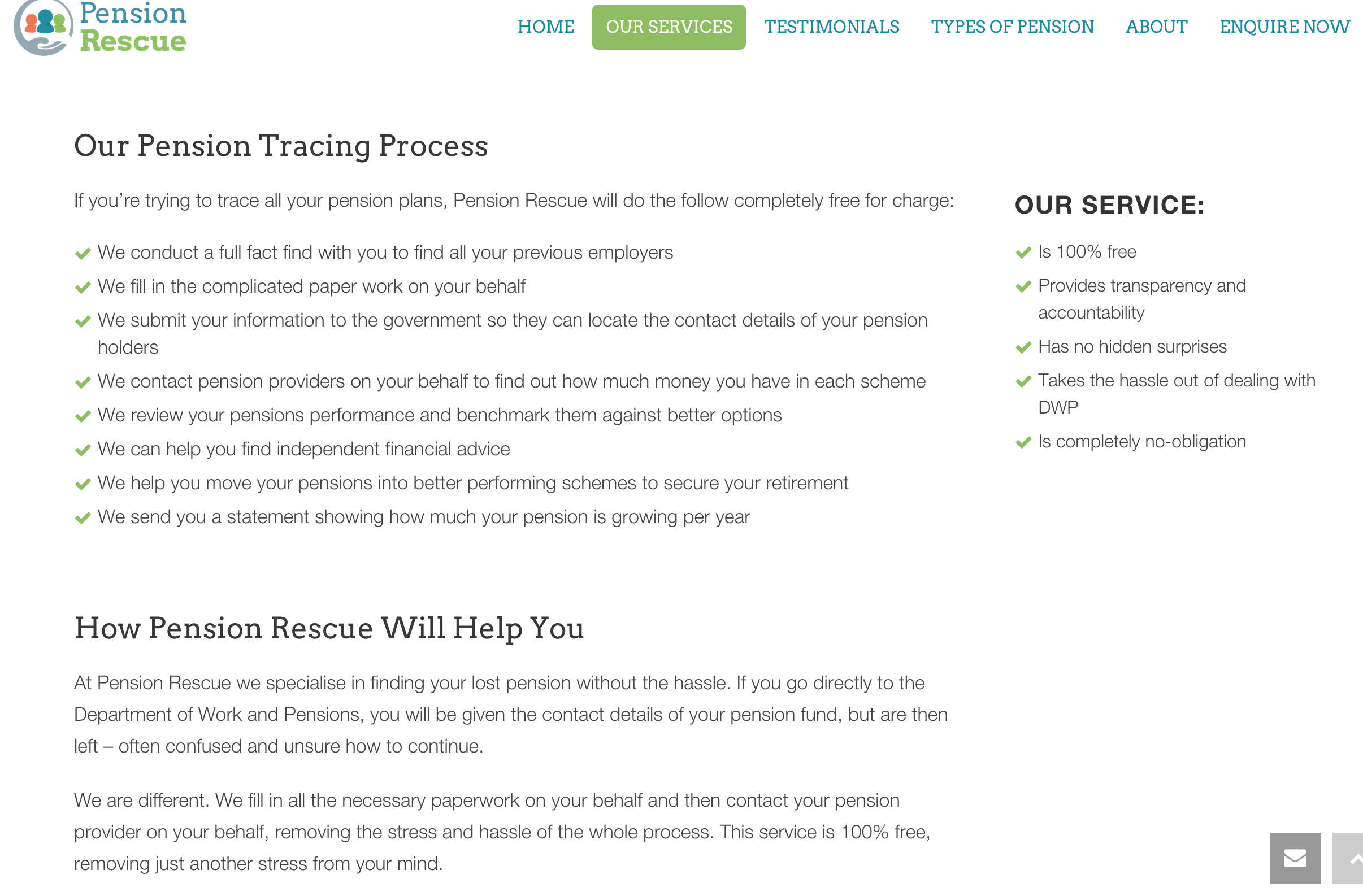 Pension Tracing Landing Page 1